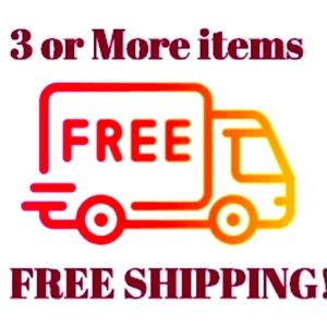 Free shipping on bundles of 3 or more items.